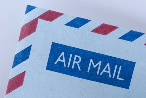 Image of an airmail letter
